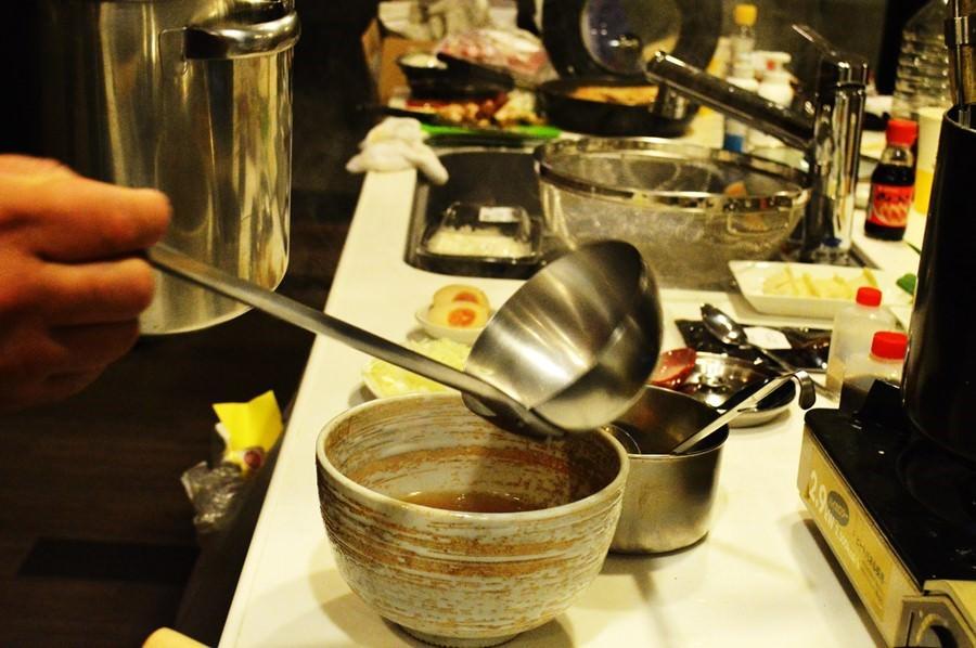 平鍋 ラーメンスープ